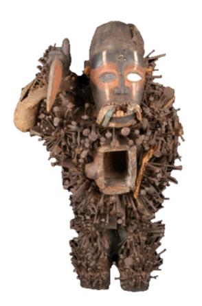 Nkisi du Congo issu des collections du musée du Quai-Branly, Jacques Chirac (n° d'inventaire 71.1892.70.6).
