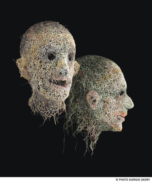 Choir of mummies Werner Strub Wire masks