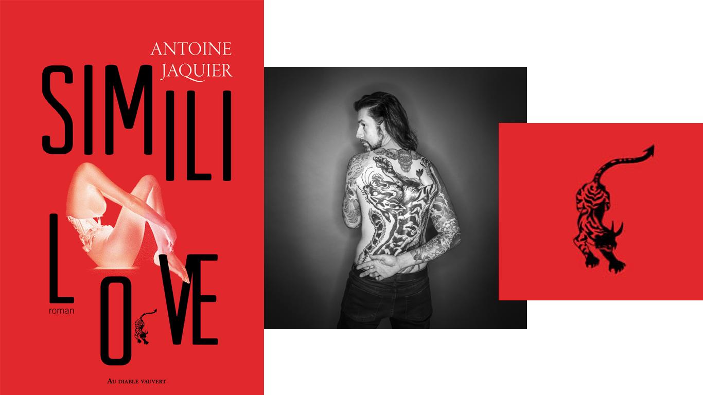 Antoine Jaquier étant lui-même à la fois auteur et tatoué - la pièce qui orne son dos a été stylisée pour devenir le logo de son livre.
